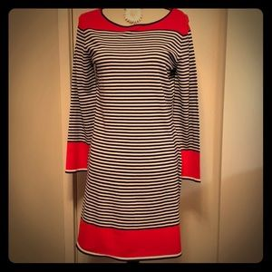 NWT Sail to Sable Red, Navy, and White Dress